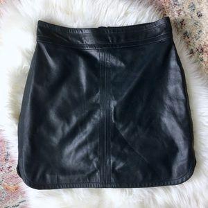 Lamb Leather Mini Skirt